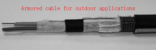 Armored cable for outdoor applications