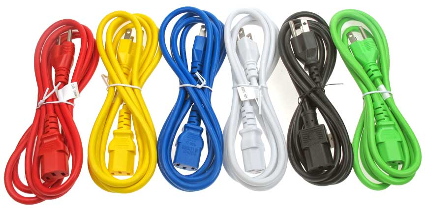 colorful power cord