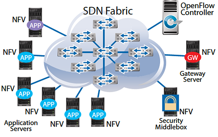 SDN fabric with NFV