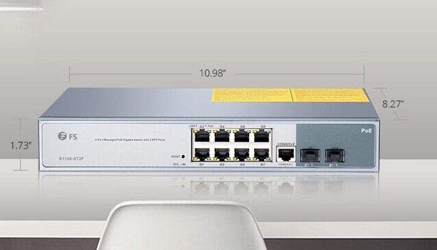 S1130-8T2F Managed PoE+ Switch
