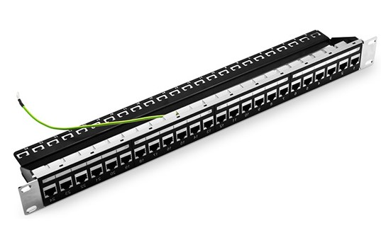 cat5e shielded patch panel